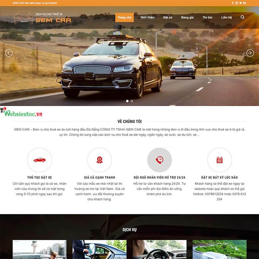 quy trình thiết kế web ô tô