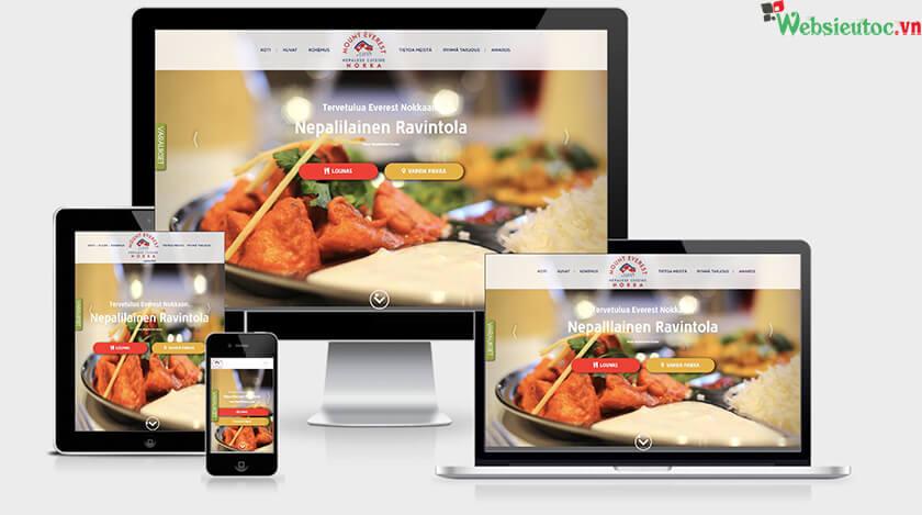 thiết kế web nhà hàng
