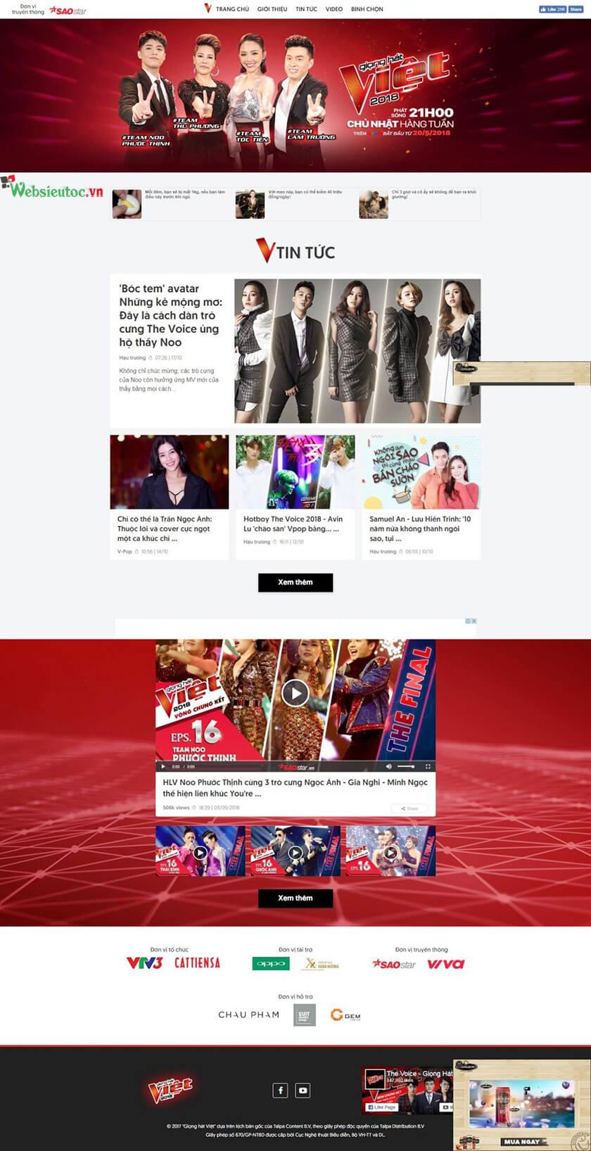 mẫu web tổ chức sự kiện