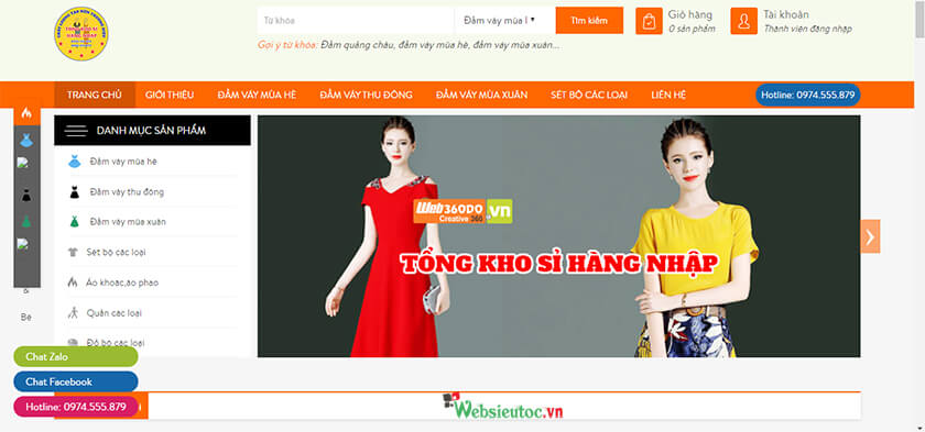 thiết kế web thời trang