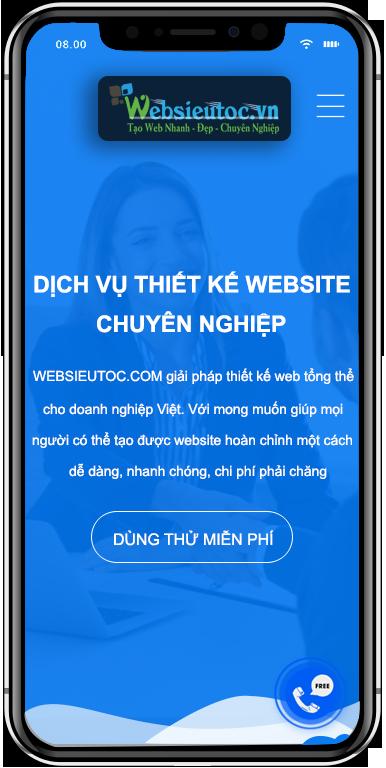 Thiết kế website tại websieutoc