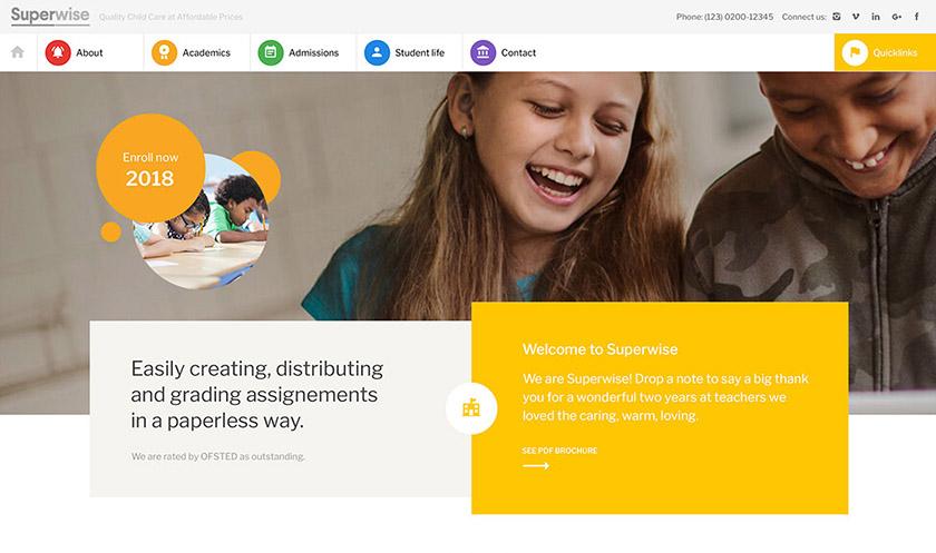 mẫu web giáo dục 4