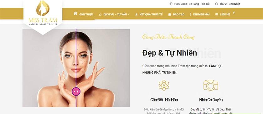 thiết kế web làm đẹp
