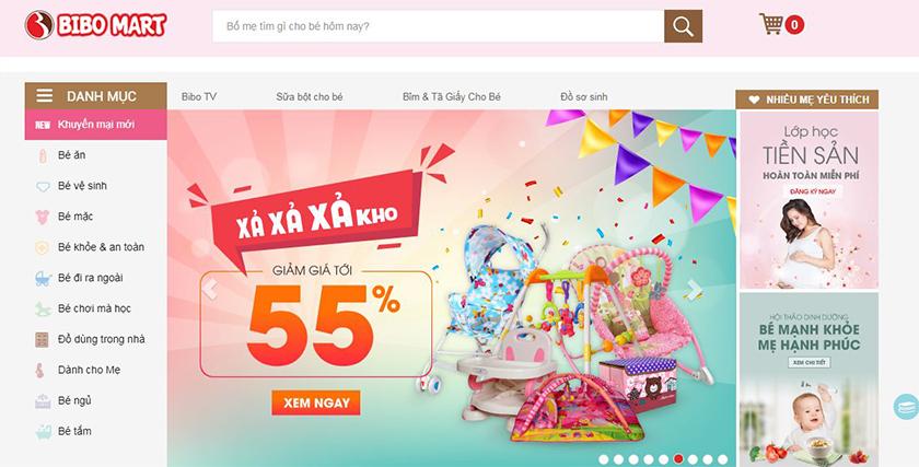 dịch vụ thiết kế web mẹ và bé