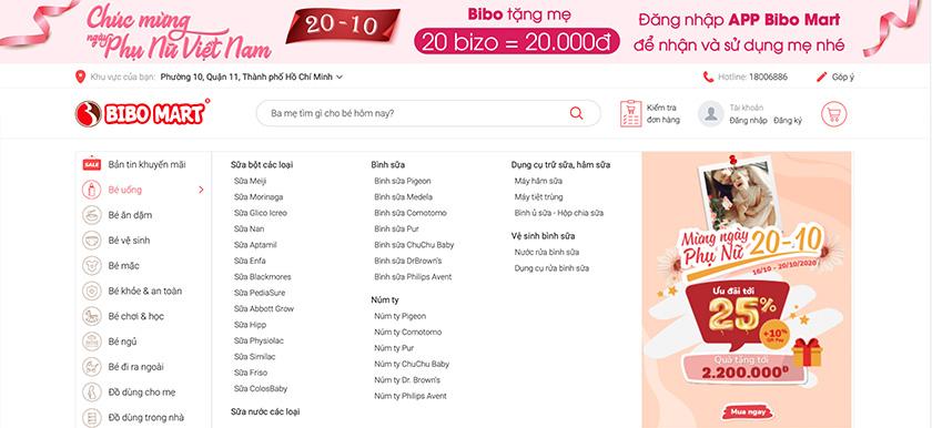 thiết kế website mẹ bé