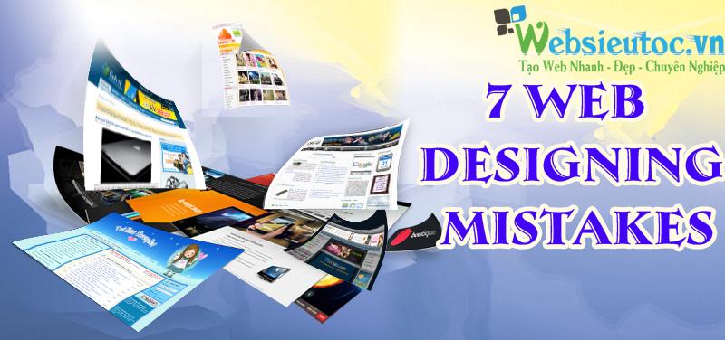 7 điều cần tránh khi bạn thiết kế website
