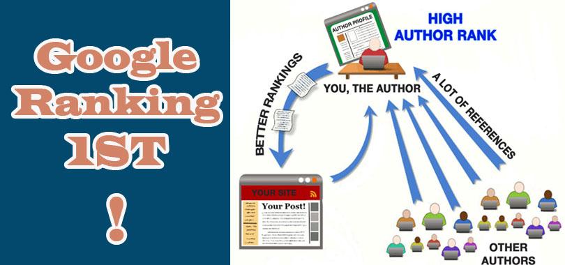 Xếp hạng website qua Google Author