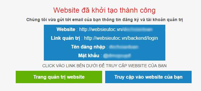 thong bao tao website thanh cong
