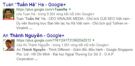 Google Author tác động mạnh tới Ranking