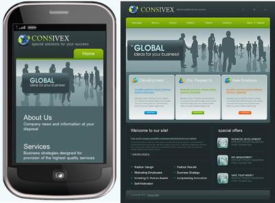 Giao diện website chuẩn điện thoại
