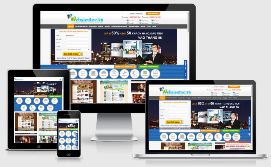 Thiết kế website chuẩn di động của Websieutoc.VN