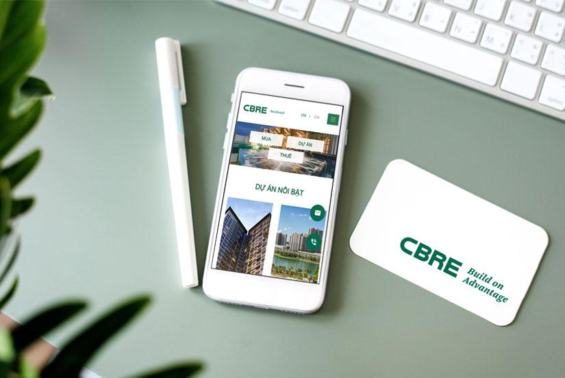 CBRE Việt Nam - Làm website dịch vụ khu dân cư hiện đại