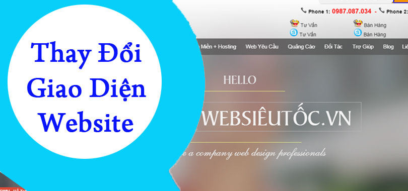 Thay đổi giao diện website